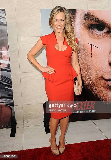 Actress Julie Benz attends the 'Dexter' series finale season premiere party at Milk Studios on June 15 2013 in Hollywood California