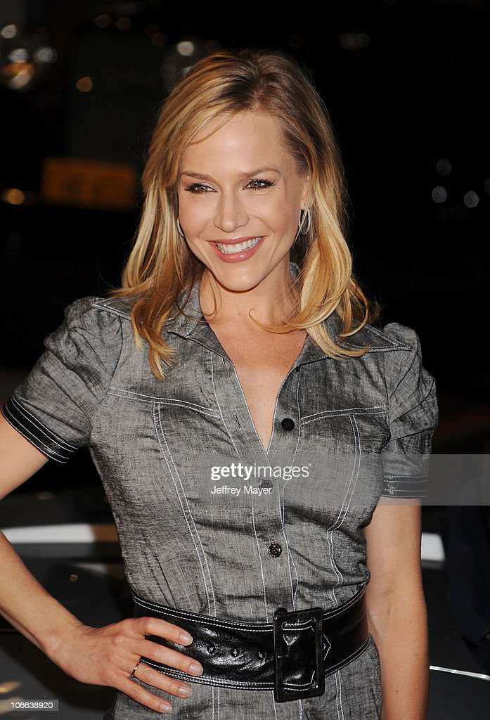 Actress Julie Benz attends the Rally For Kids With Cancer Scavenger Cup Press Conference With Eva Longoria at Petersen Automotive Museum on May 24, 2010 in Los Angeles, California.