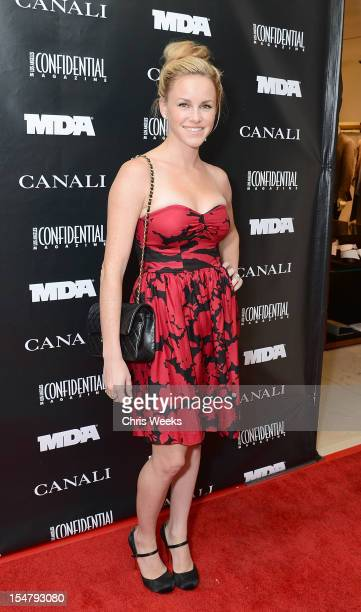 Actress Julie Berman attends an Evening In Honor Of The Muscular Dystrophy Association Canali at Canali Boutique on October 25 2012 in Beverly Hills...