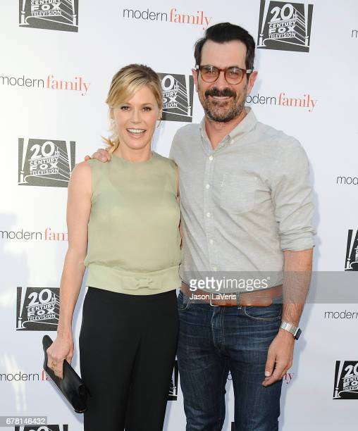 Actress Julie Bowen and actor Ty Burrell attend the Modern Family ATAS event at Saban Media Center on May 3 2017 in North Hollywood California