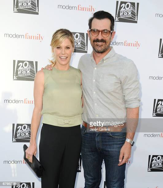 Actress Julie Bowen and actor Ty Burrell attend the 'Modern Family' ATAS event at Saban Media Center on May 3 2017 in North Hollywood California