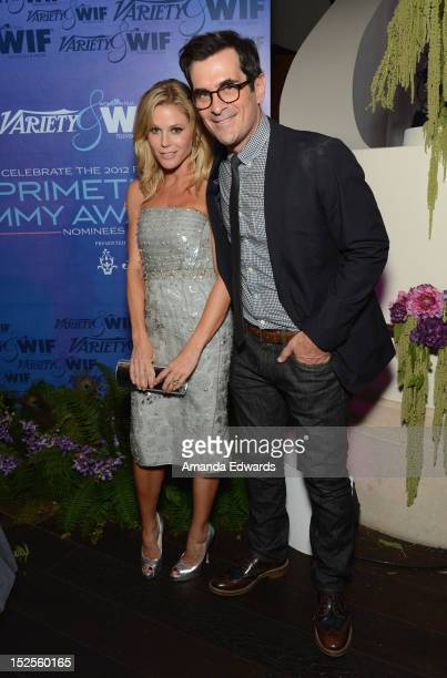 Actress Julie Bowen and Actor Ty Burrell attend Variety and Women in Film Pre-EMMY Event presented by Saint Vintage at Scarpetta Beverly Hills on...