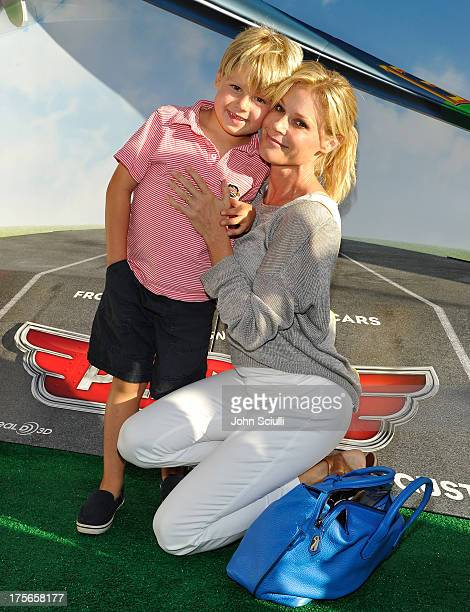 Actress Julie Bowen and Oliver McLanahan Phillips at the worldpremiere of Disney's Planes presented by Target at the El Capitan Theatre on August 5...
