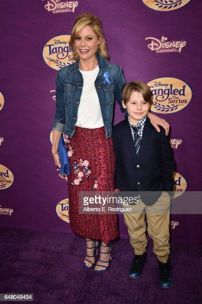 Actress Julie Bowen and Oliver McLanahan Phillips attend a screening of Disney Channel's Tangled Before Ever After at The Paley Center for Media on...