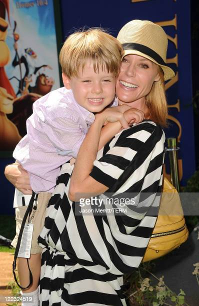 Actress Julie Bowen and son Oliver McLanahan Phillips arrive at the premiere of Walt Disney Studios' The Lion King 3D on August 27 2011 in Los...