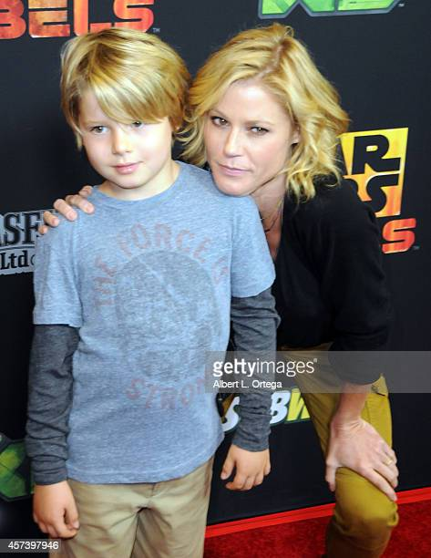 Actress Julie Bowen and son Oliver McLanahan Phillips arrive for Disney XD's Star Wars Rebels Spark Of Rebellion Los Angeles Special Screening held...
