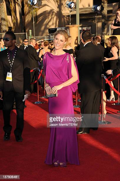 Actress Julie Bowen arrives at the 18th Annual Screen Actors Guild Awards at The Shrine Auditorium on January 29 2012 in Los Angeles California