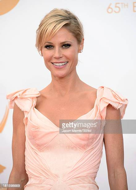 Actress Julie Bowen arrives at the 65th Annual Primetime Emmy Awards held at Nokia Theatre LA Live on September 22 2013 in Los Angeles California