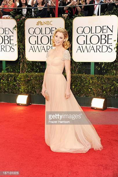 Actress Julie Bowen arrives at the 69th Annual Golden Globe Awards held at the Beverly Hilton Hotel on January 15 2012 in Beverly Hills California