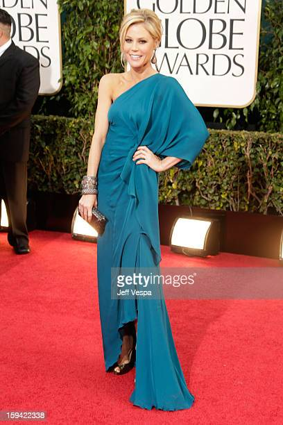 Actress Julie Bowen arrives at the 70th Annual Golden Globe Awards held at The Beverly Hilton Hotel on January 13 2013 in Beverly Hills California