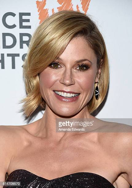 Actress Julie Bowen arrives at the Alliance For Children's Rights' 24th Annual Dinner at The Beverly Hilton Hotel on March 10 2016 in Beverly Hills...