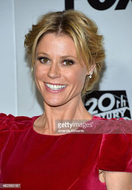 Actress Julie Bowen arrives at the FOX/FX Golden Globe Party at the FOX Pavilion at the Golden Globes on January 12, 2014 in Beverly Hills,...