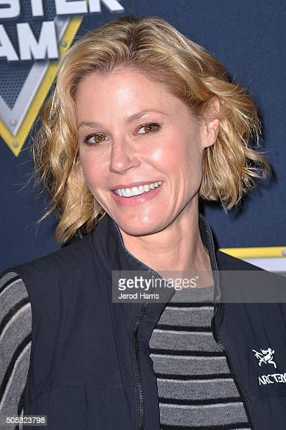Actress Julie Bowen arrives at the Monster Jam at Angel Stadium of Anaheim on January 16 2016 in Anaheim California
