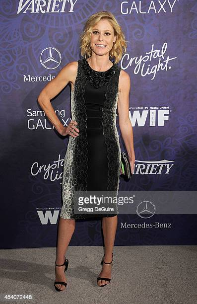 Actress Julie Bowen arrives at the Variety And Women In Film Annual PreEmmy Celebration at Gracias Madre on August 23 2014 in West Hollywood...