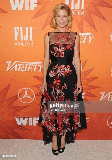 Actress Julie Bowen arrives at the Variety And Women In Film Annual PreEmmy Celebration at Gracias Madre on September 18 2015 in West Hollywood...
