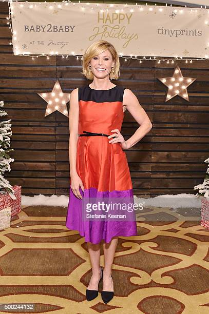 Actress Julie Bowen attends the Baby2Baby Holiday Party Presented By Tiny Prints At Montage Beverly Hills on December 6, 2015 in Beverly Hills,...