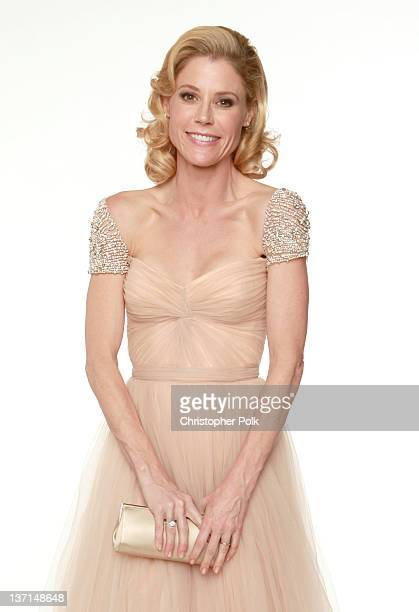 """Actress Julie Bowen, Best Television Series - Musical or Comedy award for """"Modern Family"""" poses for a portrait backstage at the 69th Annual Golden..."""