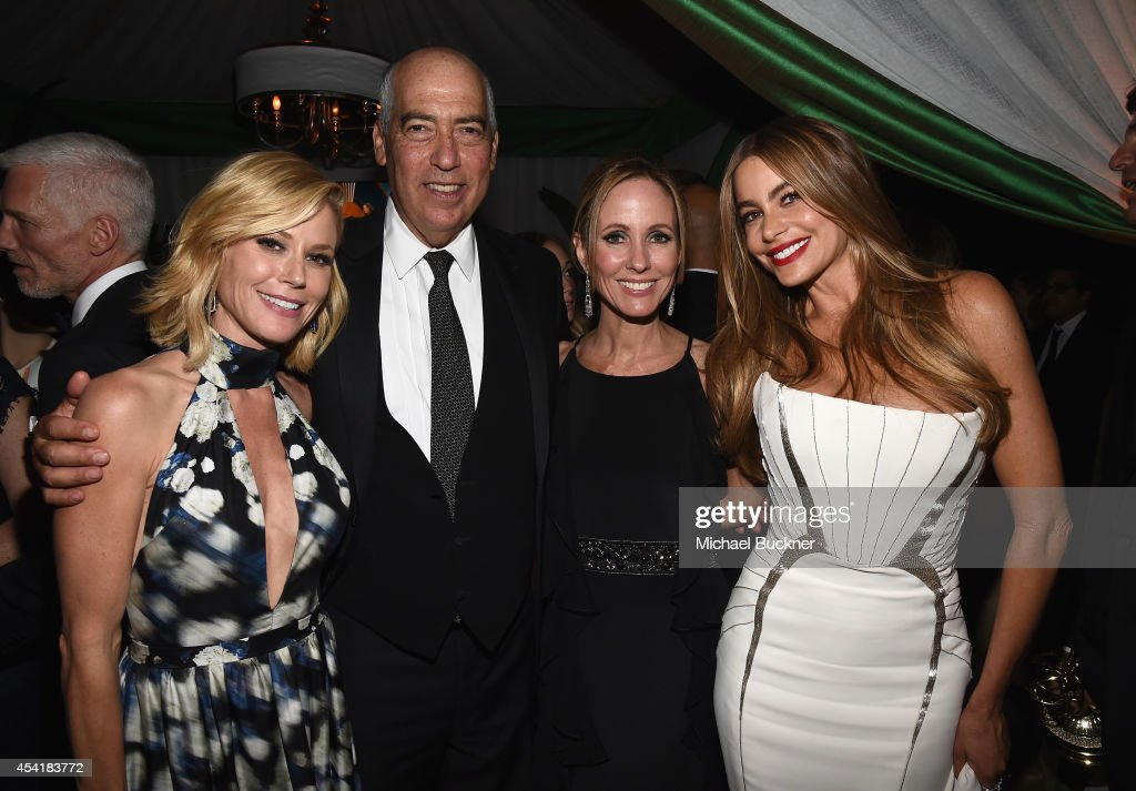 Actress Julie Bowen, Gary Newman, Chairman and CEO of Fox Television Group, Dana Walden, Chairman and CEO of Fox Television Group, and actress Sofia Vergara attend the FOX, 20th Century FOX Television, FX Networks and National Geographic Channel's 2014 Emmy Award Nominee Celebration at Vibiana on August 25, 2014 in Los Angeles, California.