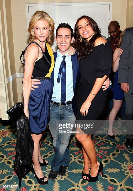 Actress Julie Bowen producer Jason Winer and actress Sofia Vergara attend the 69th Annual Peabody Awards at The Waldorf Astoria on May 17 2010 in New...