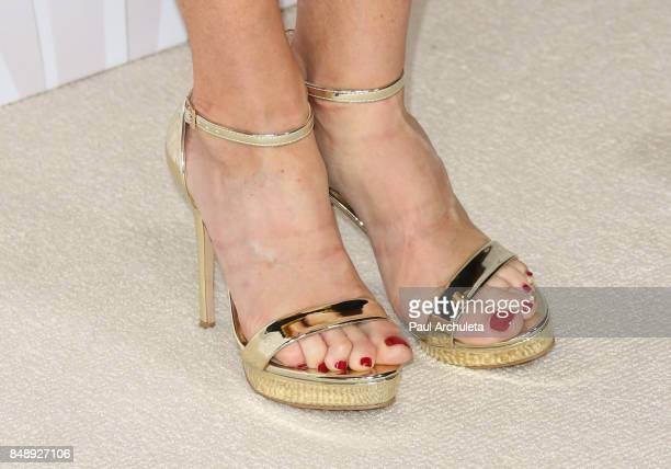 Actress Julie Bowen Shoe Detail attends the FOX Broadcasting Company Twentieth Century Fox Television FX and National Geographic 69th primetime Emmy...