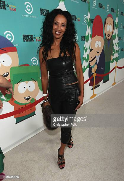 """Actress Julie Brown arrives at """"South Park's"""" 15th Anniversary Party at The Barker Hanger on September 20, 2011 in Santa Monica, California."""