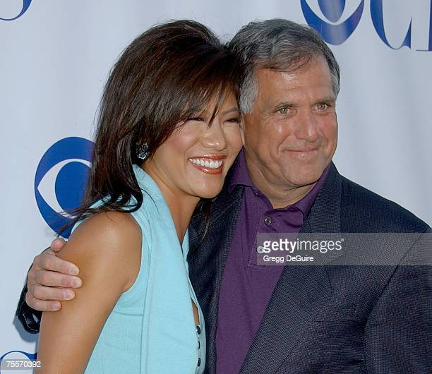 Actress Julie Chen and President CEO of CBS Les Moonves arrive at the CBS Summer Press Tour Stars Party 2007 at the Wadsworth Theatre on July 19 2007...