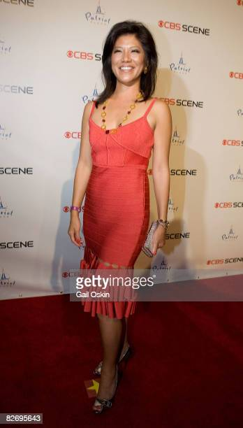 Actress Julie Chen attends the grand opening of the CBS Scene Restaurant Bar on September 6 2008 in Boston