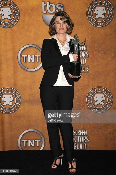 Actress Julie Christie in the press room at the 14th Annual Screen Actors Guild Awards at the Shrine Auditorium on January 27 2008 in Los Angeles...