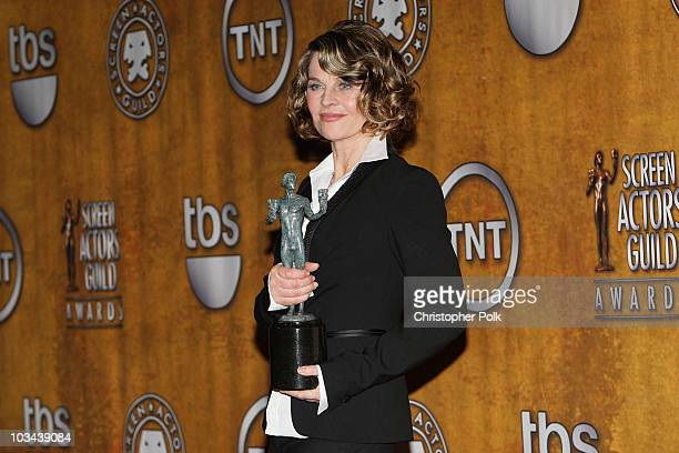 Actress Julie Christie in the press room at the TNT/TBS broadcast of the 14th Annual Screen Actors Guild Awards at the Shrine Auditorium on January...