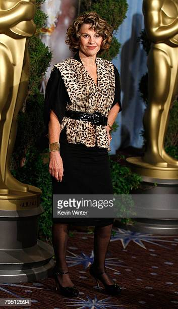 Actress Julie Christie poses during the 80th annual Academy Awards nominees luncheon held at the Beverly Hilton Hotel on February 4 2008 in Los...