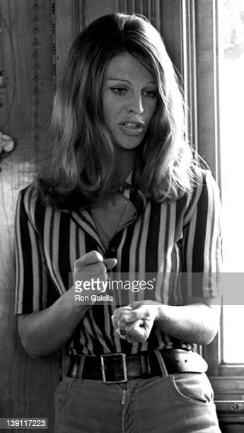 Actress Julie Christie sighted on location filming In Search of Gregory on September 14 1968 at Lake Geneva Switzerland