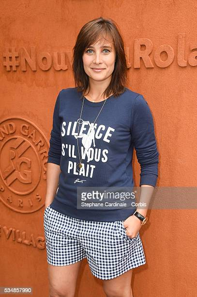 Actress Julie de Bona attends day seven of the 2016 French Open at Roland Garros on May 28 2016 in Paris France