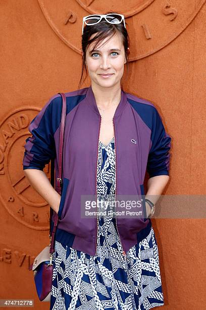 Actress Julie de Bona attends the 2015 Roland Garros French Tennis Open Day 2 on May 25 2015 in Paris France
