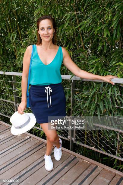 Actress Julie de Bona attends the 2017 French Tennis Open Day Three at Roland Garros on May 30 2017 in Paris France