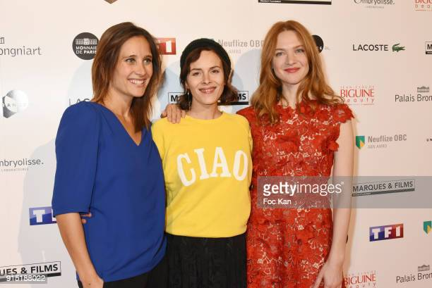 Actress Julie de Bona director Eleonor Serraille and actress Odile Vuillemin attend the Trophees du Film Francais 2018 at Palais Brogniart on...