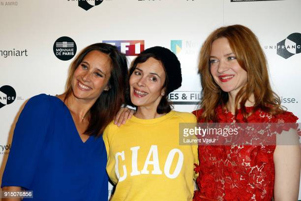 Actress Julie de Bona Director Lonor Serraille and Actress Odile Vuillemin attends '25th Trophees du Film Francais' at Palais Brongniart on February...
