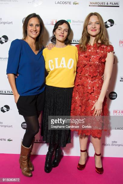 Actress Julie de Bona Director Lonor Serraille and Actress Odile Vuillemin attend the 'Trophees du Film Francais' 25th Ceremony at Palais Brongniart...