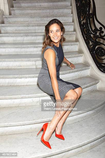 Actress Julie de Bona is photographed for Madame Figaro on June 17 2014 in Paris France Dress necklace Promesse watch shoes PUBLISHED IMAGE CREDIT...