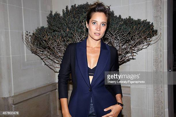 Actress Julie de Bona is photographed for Madame Figaro on June 17 2014 in Paris France Jacket bra Clifton watch CREDIT MUST READ Thierry...
