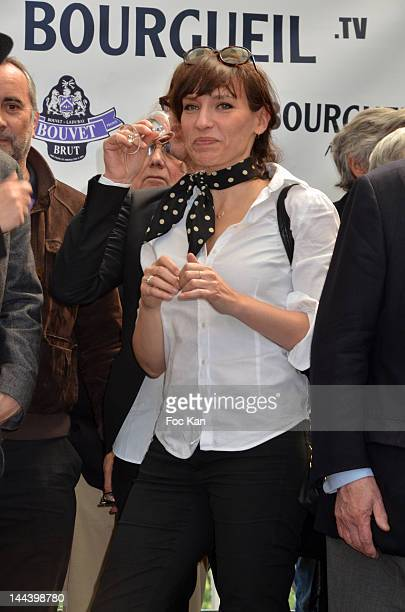 Actress Julie Debazac attends the 'Journees Nationales du Livre et du Vin 2012' at Bouvet Ladurey Cellars on May 13, 2012 in Saumur, France.