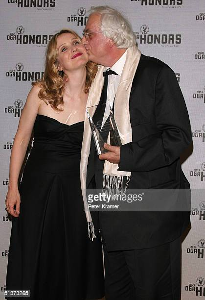 Actress Julie Delpy and director Bertrand Tavernier pose backstage at the 5th Annual Directors Guild Of America Honors at the Waldorf Astoria Hotel...