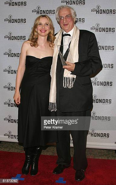 Actress Julie Delpy and director Bertrand Tavernier poses backstage at the 5th Annual Directors Guild Of America Honors at the Waldorf Astoria Hotel...