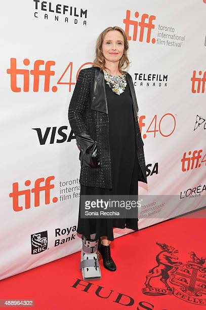 Actress Julie Delpy arrives at Lolo premiere at Roy Thomson Hall on September 18 2015 in Toronto Canada
