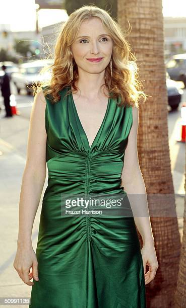 """Actress Julie Delpy arrives at the Los Angeles Film Festival Premiere of """"Before Sunset"""" at the Archlight Cinema on June 23, 2004 in Los Angeles..."""