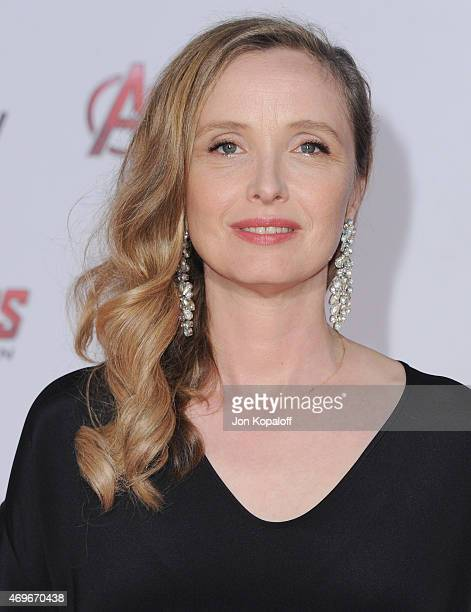 Actress Julie Delpy arrives at the Los Angeles Premiere Marvel's 'Avengers Age Of Ultron' at Dolby Theatre on April 13 2015 in Hollywood California