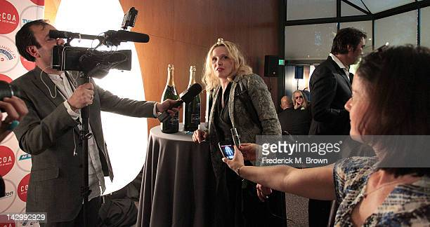 Actress Julie Delpy attends the 16th Annual City Of Lights City Of Angels Film Festival at the Directors Guild of America on April 16 2012 in Los...