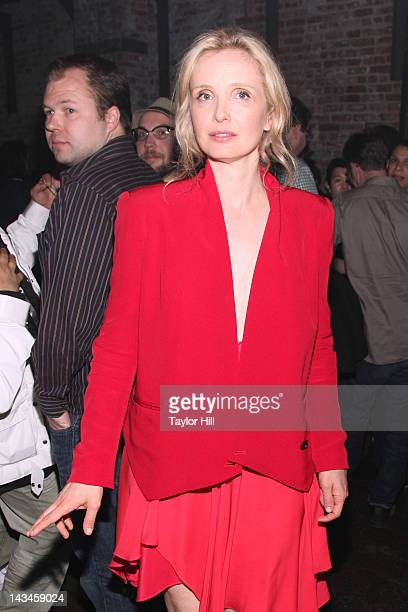 Actress Julie Delpy attends the 2 Days in New York premiere after party during the 2012 Tribeca Film Festival at Bombay Sapphire House Of Imagination...