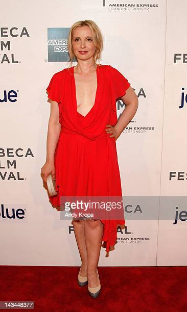 Actress Julie Delpy attends the 2 Days In New York Premiere during the 2012 Tribeca Film Festival at the Borough of Manhattan Community College on...