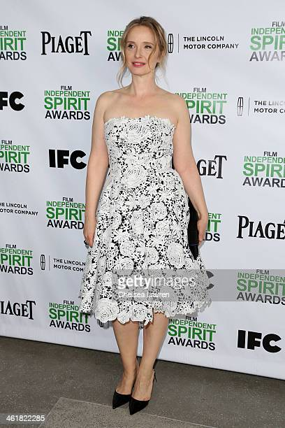 Actress Julie Delpy attends the 2014 Film Independent Spirit Awards Nominee Brunch at BOA Steakhouse on January 11 2014 in West Hollywood California
