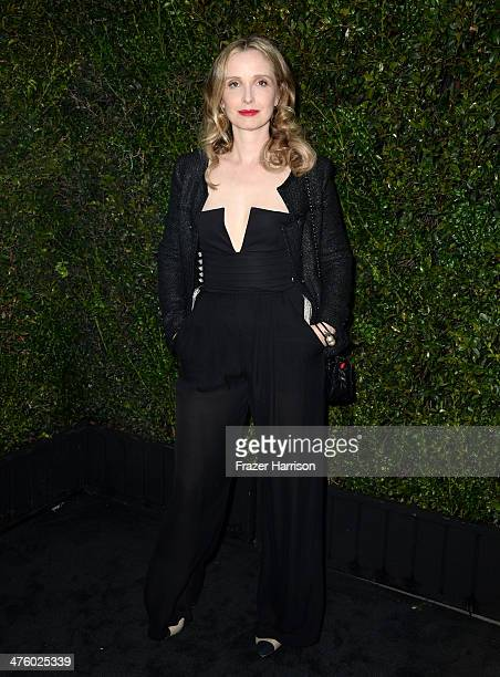 Actress Julie Delpy attends the Chanel and Charles Finch PreOscar Dinner at Madeo Restaurant on March 1 2014 in Los Angeles California